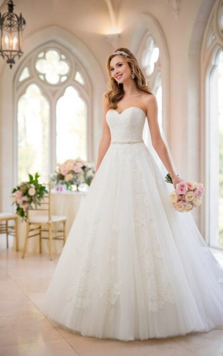 Princess Wedding Dresses | Organza Princess Wedding Dress | Stella York With Regard To Princess Wedding Dresses