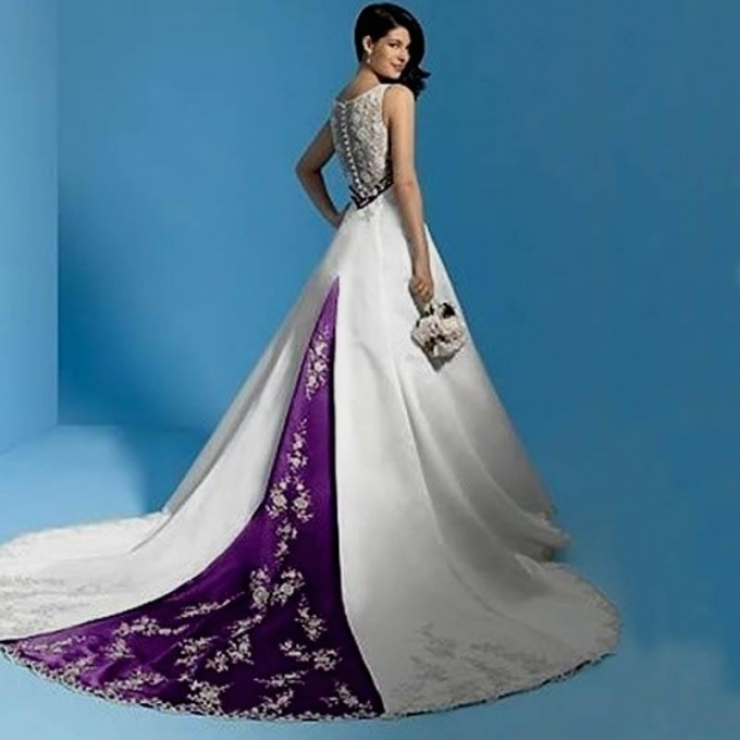 Purple And White Wedding Dress Naf Dresses throughout Purple Wedding Dresses