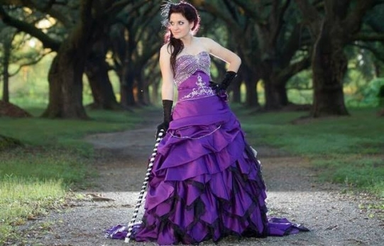 Purple Wedding Dresses Pertaining To Purple Wedding Dresses