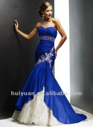 Royal Blue And White Wedding Dresses *** | Life Together | Pinterest For Royal Blue Wedding Dresses