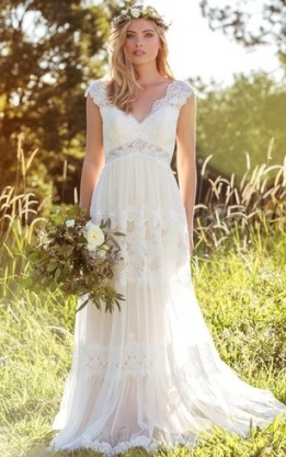 Rustic Wedding Gowns: Country & Western Bridal Dresses   Dorris Wedding Throughout Lovely Rustic Wedding Dresses Ty4