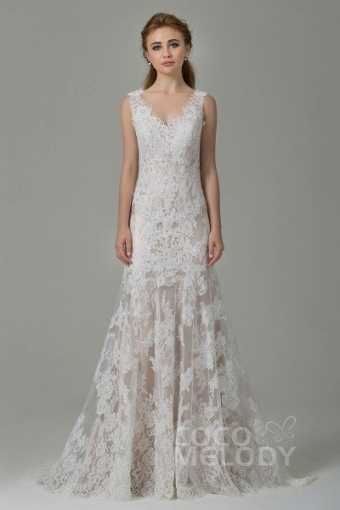 Lovely Sheath Wedding Dress ty4