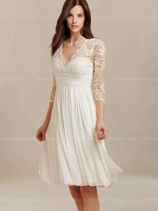 Luxury Short Lace Wedding Dress kc3