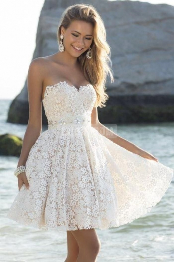 Fresh Short White Wedding Dresses kls7