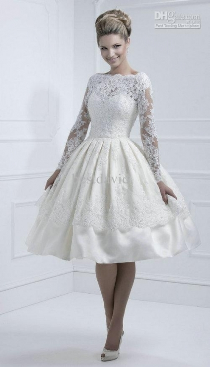 Short Wedding Dress With Sleeves   Women's Style With Regard To Luxury Short Wedding Dresses With Sleeves Kc3