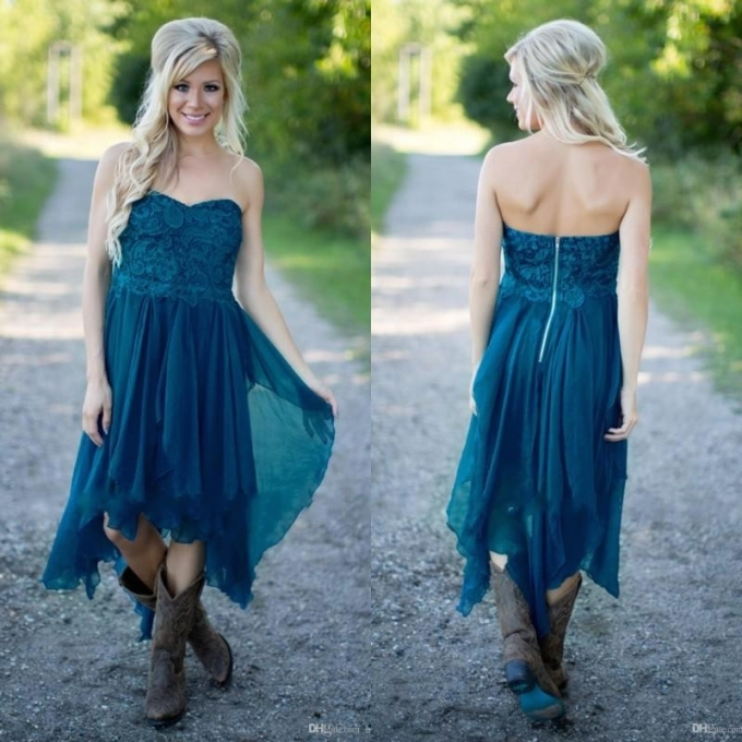 Simple Country Bridesmaid Dresses 2018 Short Cheap For Wedding Teal For Lovely Teal Wedding Dresses Sf8