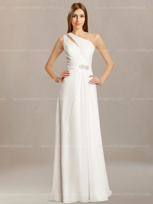 Simple One Shoulder Wedding Dress $198 Intended For Beautiful One Shoulder Wedding Dress Klp8