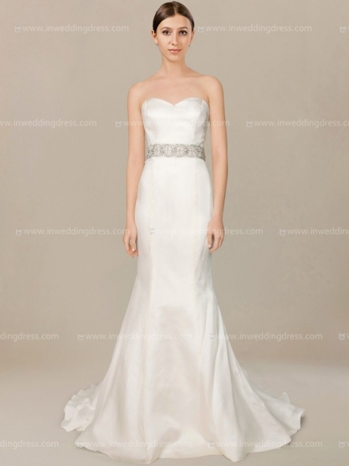 Simple Strapless Wedding Dress $246 | Inweddingdress Intended For Awesome Strapless Wedding Dresses Df9
