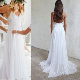 Luxury Simple Wedding Dresses For The Beach ty4