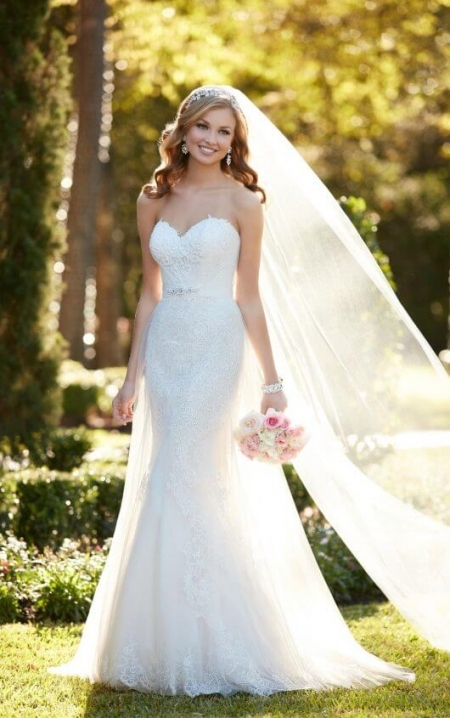 Strapless Wedding Dress With Sweetheart Neckline | Stella York Pertaining To Awesome Strapless Wedding Dresses Df9