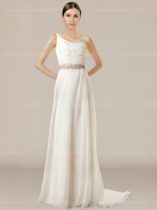 Summer One Shoulder Wedding Dress £148 Throughout Beautiful One Shoulder Wedding Dress Klp8