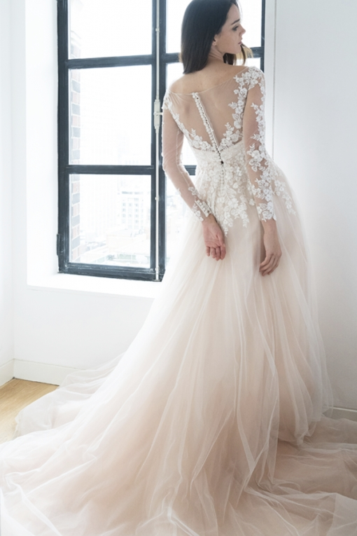 The Prettiest Blush & Light Pink Wedding Gowns — Kelly Faetanini In Light Pink Wedding Dress