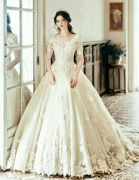 This Princess Inspired Wedding Gown From Clara Wedding Featuring Within Beautiful Princess Style Wedding Dresses Fg8
