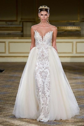 Top 10 Wedding Dresses With Detachable Skirts | Bridalguide In Awesome Detachable Wedding Dress Jk4