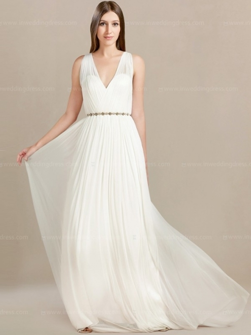 V Neck Casual Beach Wedding Dress $248 Intended For Elegant Casual Beach Wedding Dresses Ty4