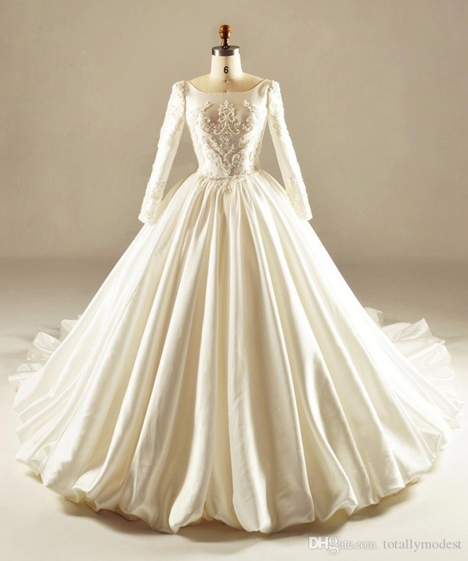 Vintage 1950S 60S Court Ball Gown Modest Wedding Dresses 2017 With Pertaining To Luxury 1950S Wedding Dresses Ty4