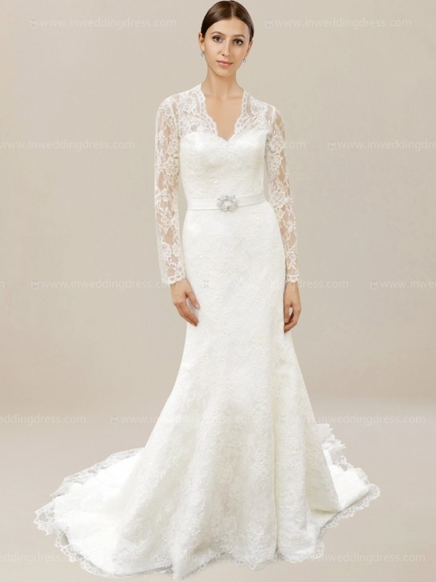 Vintage Lace Wedding Dresses De124N | Inweddingdress Throughout Vintage Lace Wedding Dresses