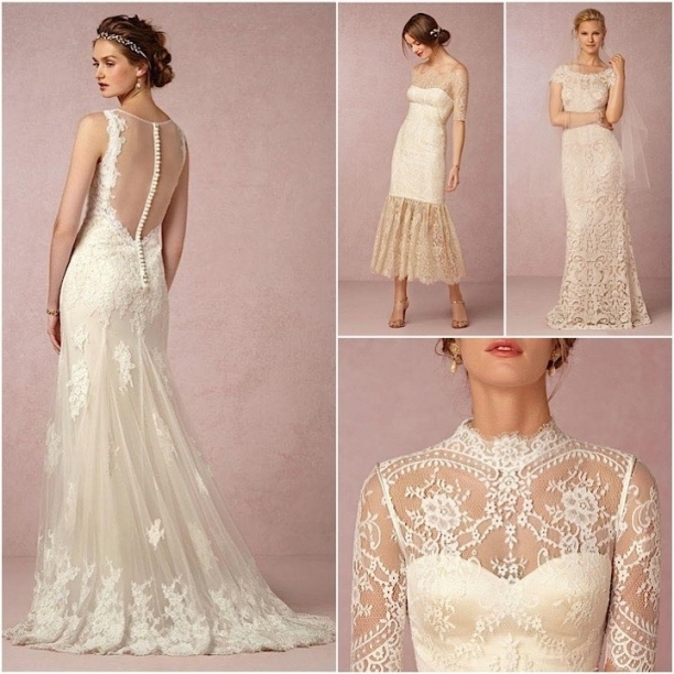 Vintage Lace Wedding Dresses From Bhldn   Modwedding Within Vintage Lace Wedding Dresses