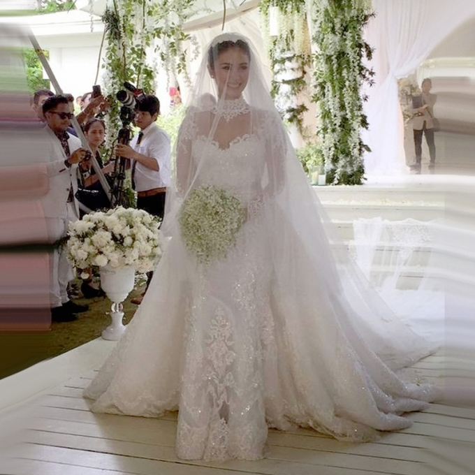 W229 Detachable Train Wedding Dresses Lace Bridal Dresses With High Pertaining To Awesome Detachable Wedding Dress Jk4