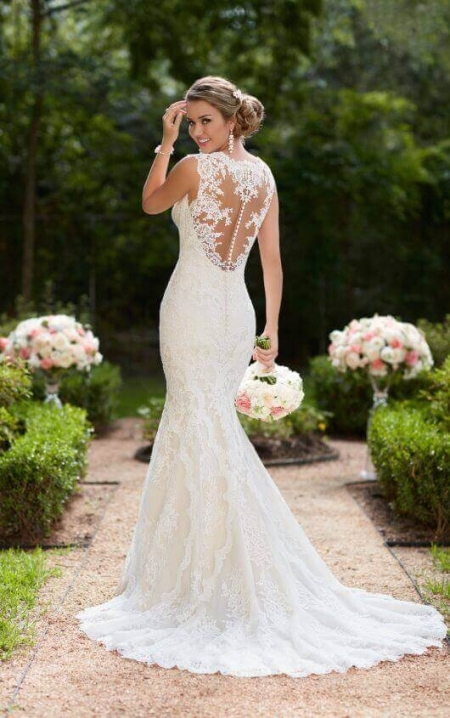 Wedding Dresses | Vintage Lace Trumpet Wedding Dress | Stella York Regarding Lovely Vintage Lace Wedding Dresses Jk4