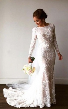Luxury Wedding Dresses With Sleeves klp8