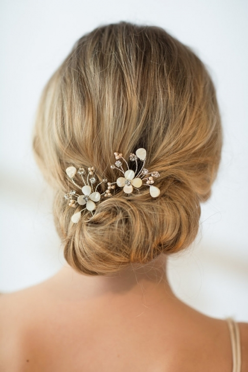 Wedding Hairpins, Bridal Hairpins, Mother Of Pearl Wedding Hair Pins Inside Hair Pins For Weddings