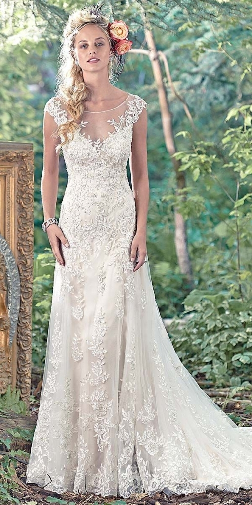 Wedding Ideas   Maggie Sottero Vintage Lace Wedding Dress | Wearing For Lovely Vintage Lace Wedding Dresses Jk4