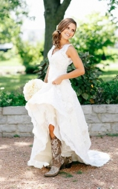 New Western Style Wedding Dresses dt3
