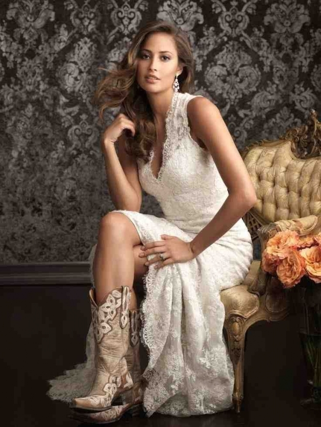 Western Wedding Dresses And Boots | Western Wedding Dresses With New Western Style Wedding Dresses Dt3