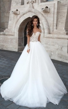 White & Gold Color Wedding Dresses On Sale   June Bridals In Elegant White And Gold Wedding Dress Dt3