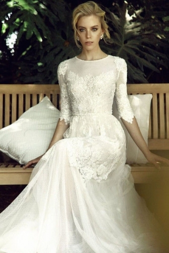 Your Guide To Choosing The Perfect Modest Wedding Dress   Mywedding With Regard To Luxury Modest Wedding Dresses With Sleeves Kc3
