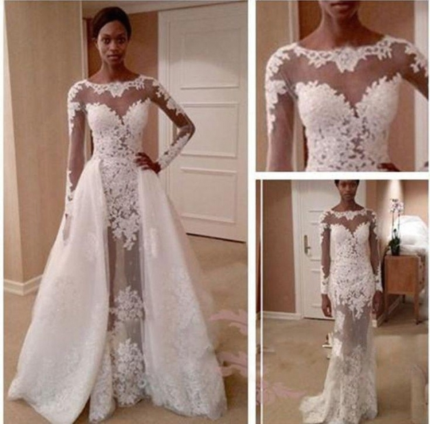 Zuhair Murd Wedding Dresses See Through Beach Bridal Gowns With Long With Bridal Dresses Online
