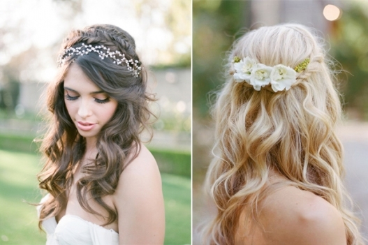 10 Of The Best Half Up Half Down Wedding Hairstyles With Braids Inside Lovely Waterfall Braid Wedding Hair Fg8