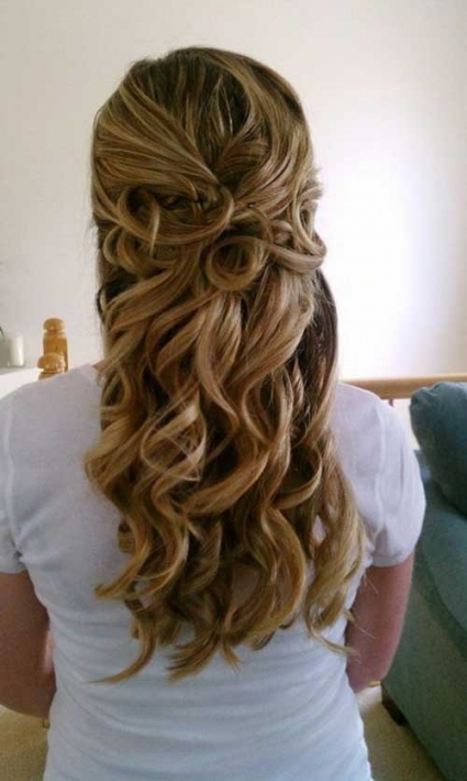 15 Bridal Hair Half Up | Hairstyles & Haircuts 2016   2017 With Regard To Awesome Half Updos For Long Hair Wedding Kc3