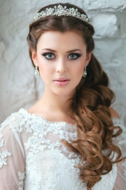 15 Latest Half Up Half Down Wedding Hairstyles For Trendy Brides Pertaining To Elegant Wedding Hair Half Up With Veil Sf8