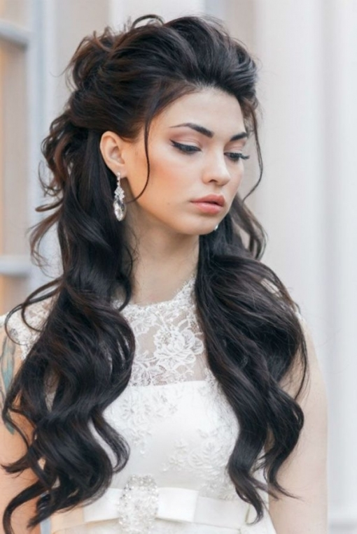 20 Awesome Half Up Half Down Wedding Hairstyle Ideas | Weddings Pertaining To Half Updos For Long Hair Wedding
