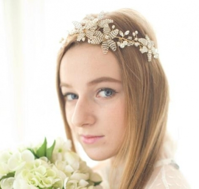 2016 Gold Headpiece Hair Accessories Cheap Beads Sexy Pearls Bridal With New Sexy Wedding Hair Klp8