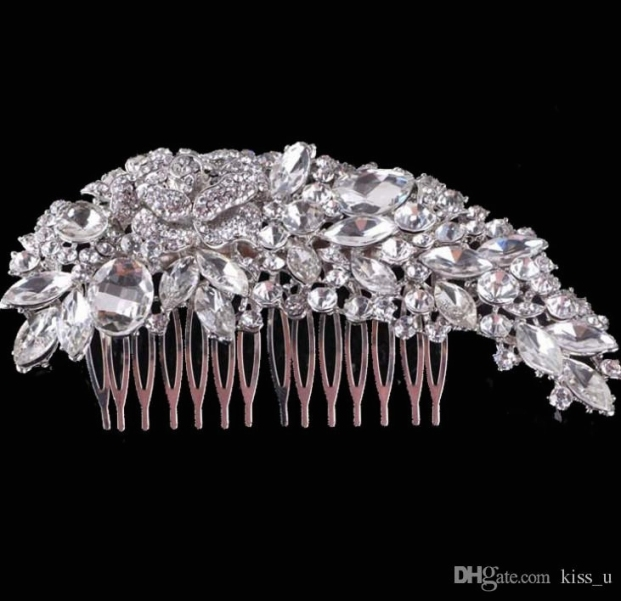 2018 Crystal Wedding Hair Accessories Fashion Hair Combs Bridesmaids With New Wedding Hair Clips And Combs Ty4