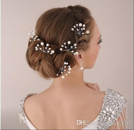 2018 Elegant Bridal Updo Hair Accessories Silver Tone Rhinestones within Elegant Wedding Hair