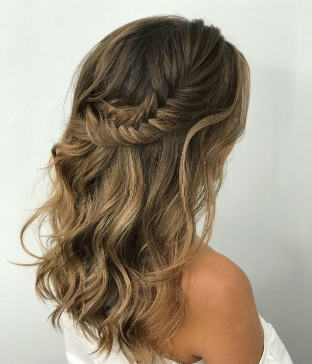 2018 Wedding Hair Trends | The Ultimate Wedding Hair Styles Of 2018 Intended For Awesome Half Updos For Long Hair Wedding Kc3