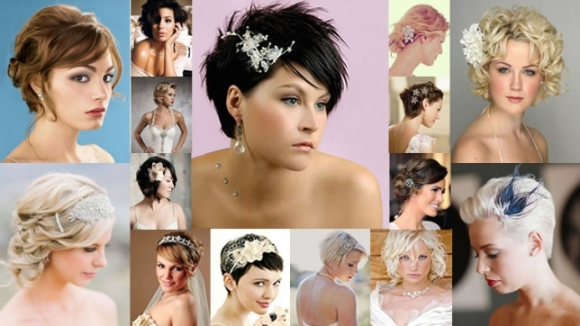 2018 Wedding Hairstyles And Make Up Guide For Short Hair – Hairstyles with Lovely Short Hair Styles For Wedding kc3