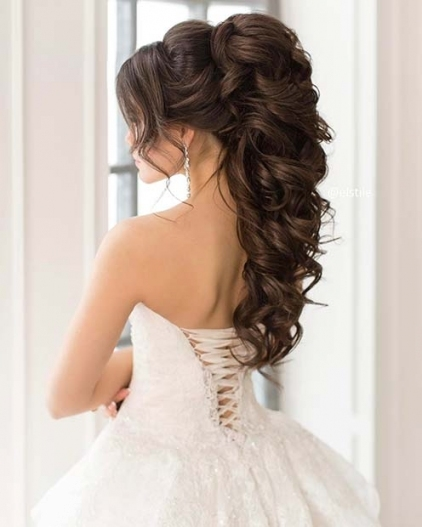 23 Gorgeous Half Up Wedding Hair Ideas | Stayglam Regarding Inspirational Wedding Hair Pics Fg8