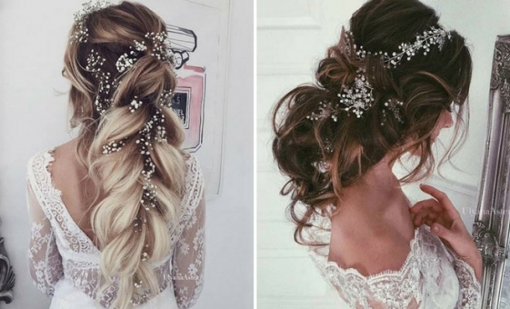 23 Romantic Wedding Hairstyles For Long Hair | Stayglam With Wedding Hair Pics