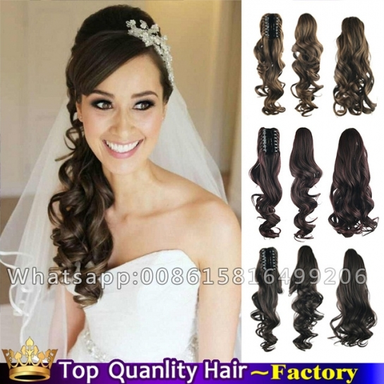 24'' Claw Clip Curly Side Ponytail Long Natural Hair Tail Sexy With Regard To Sexy Wedding Hair