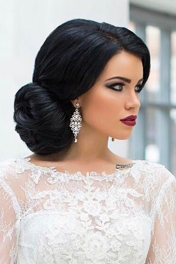 25 Classic And Beautiful Vintage Wedding Hairstyles   Haircuts Inside Elegant Hair Style For Weddings Dt3