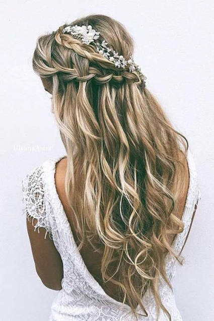 25 Elegant Half Updo Wedding Hairstyles | Gorgeous Hair | Pinterest In Half Updos For Long Hair Wedding