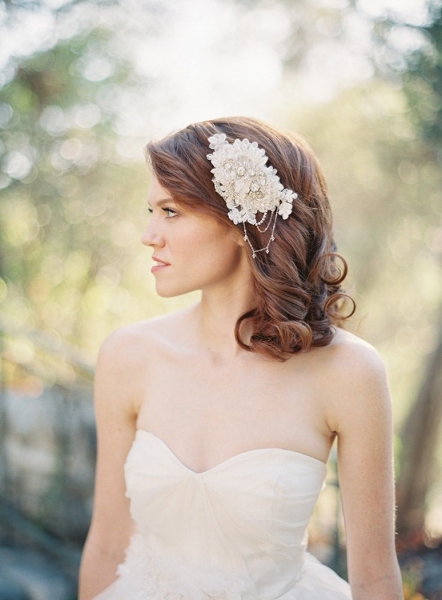 25 Perfect Hair Accessories For A Vintage Bride : Chic Vintage Brides For Elegant Vintage Wedding Hair Piece Dt3