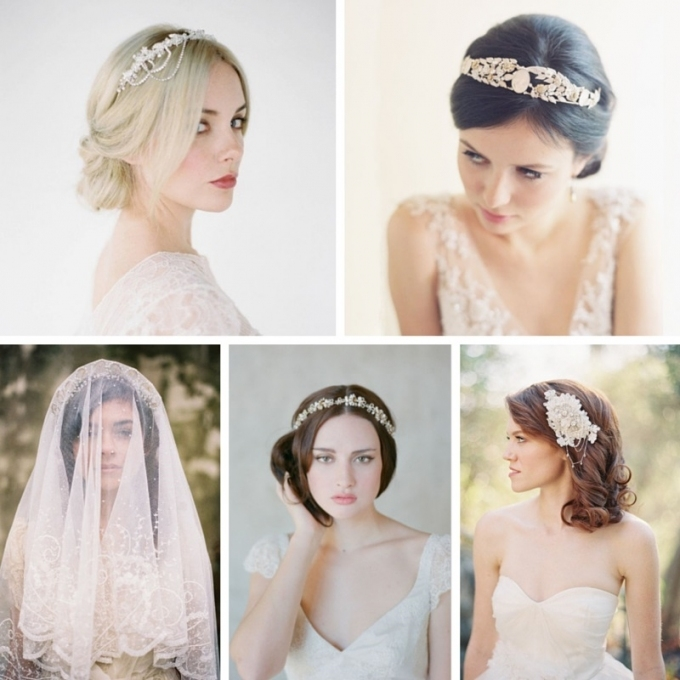 25 Perfect Hair Accessories For A Vintage Bride : Chic Vintage Brides for Vintage Wedding Hair Piece