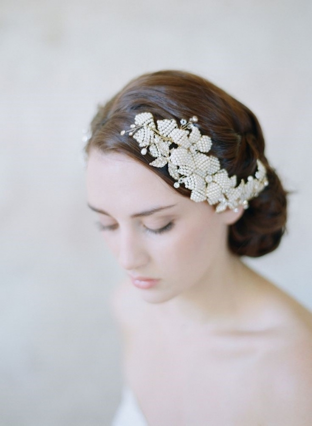 25 Perfect Hair Accessories For A Vintage Bride : Chic Vintage Brides Pertaining To Vintage Wedding Hair Piece