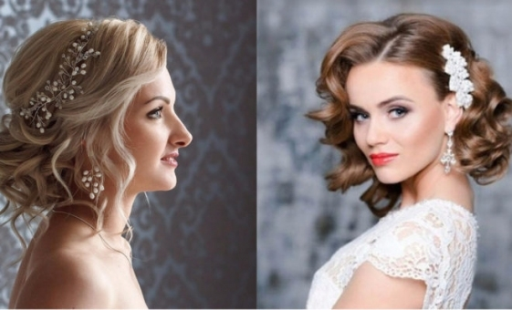 27 Gorgeous & Glam Wedding Hairstyles For Short Hairs   Top Trendy Pertaining To Lovely Short Hair Styles For Wedding Kc3